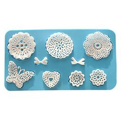 Silk Lace Silicone Baking Mold, Mold size 7x4 inch, Finished Lace 6x3 inch – USD $ 5.99
