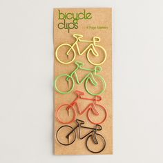 Add a touch of warm weather fun with our Bicycle Paper Clips. Featuring a fun bike design, they're terrific for attaching gift tags to presents or keeping your papers together.