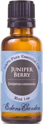 Juniper Berry 100% Pure Therapeutic Grade Essential Oil- 30 ml by Edens Garden. $10.25. Botanical Name: Juniperus communis. Available in 10 and 30 ml- Packaged in dark amber glass bottle with euro style dropper cap. Juniper Berry has a fresh, woody-sweet and pine needle-like aroma reminiscent of evergreen oils.. Edens Garden collection includes the following 128 oils- Adoration blend, Allspice, Angelica Root, Anise Star, Aphrodisiac blend, Balance blend, Basil, Bay, Bergamot,...