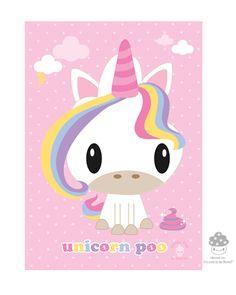 Brand New! #BoredInc Magical Unicorn Poo 5x7 Print! $6