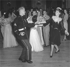 A young couple tearing up the dance floor at a USO event. #vintage #WW2 #1940s