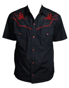 The Flying Dead Western Mens Rockabilly Shirt ~Thunder Birds