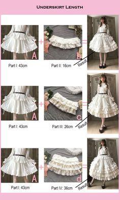 Little Dipper -Classic Mary- Vintage Classic Lolita Skirt Underskirt,Lolita Dresses, Costume Patterns, Dress Sewing Patterns, Clothing Patterns, Fashion Sewing, Diy Fashion, Fashion Hacks, Classy Fashion, Korean Fashion, Fashion Ideas