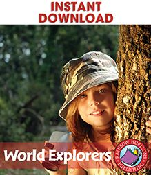 World Explorers ready-made resource for grades 4-6 from Rainbow Horizons Publishing, a division of Classroom Complete Press. Learn about the different explorers around the world, their accomplishments and struggles. Reading passages, activities, crossword, word search, and answer key. 61 pages. $16.00