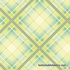 Fabric... Up Parasol Summer Plaid in Turquoise by Heather Bailey for FreeSpirit Fabrics