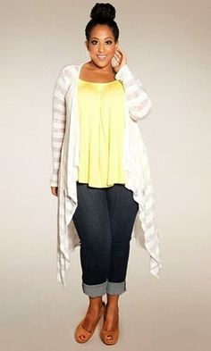05d806e38f47 Yellow and white casual plus size clothing Fashion Moda