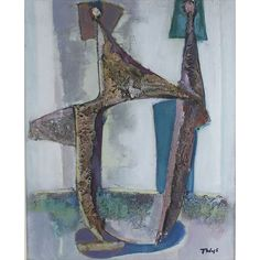 Tadeusz Was 1912-2005 Polish AR, Untitled. Tadeusz Was 1912-2005 Polish AR, Untitled. 19.5 x 16ins., (49.5 x 40.5 cms.), Mixed Media, Signed.