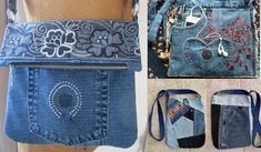 СУМКИ ИЗ СТАРЫХ ДЖИНСОВ. 65 ИДЕЙ! (Bags from old jeans. 65 the idea) | Академия рукоделия Old Jeans, Messenger Bag, Satchel, Recycling, Satchel Purse, Upcycle, Backpack