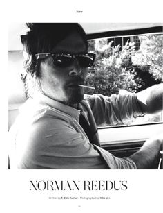 Catch tonight's season finale of The Walking Dead. Here is Norman Reedus in Issue 2, photographed by Miko Lim. #motw2