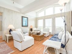 Living Area - This bright and breezy living area is washed with natural light.