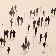 """People shadows #doodle #painting #draw #drawing  #illustration #art #artwork…"