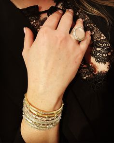 Bangles & Lace  . . . #ootd #aotd #jewelry #luxury #fashionjewelry #fashion #fashiondiaries #trend #trending #widn #wiwn #manicure #style #stylist #drinks #cheers #lookbook #weekend #saturday #snow #obsessed #diamond #gold #picoftheday #aboutalook #styleblog #realoutfitgram #lace #whatimwearing