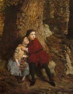 Charles Lucy - Children in the wood, 1859 x 65 cm) Hansel Y Gretel, People Sleeping, The Kingdom Of God, Believe In God, Family First, Elements Of Art, Global Art, French Artists, Art Market