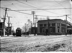 Dundas and Roncesvalles looking SE, January 19, 1912.