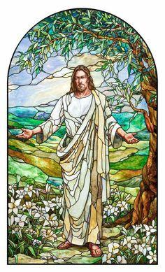 "Paris LDS Temple Christ, ""Consider the Lilies"" By Holdman Studios Artists Tom Holdman, Aaron Yorgason, Cameron Oscarson."