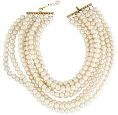 Chanel Multistrand Pearl Collar Necklace http://shopstyle.it/l/cCD5