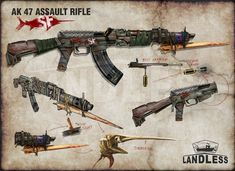 Mad Max, Aliens, Apocalypse World, Post Apocalyptic Art, Steampunk Weapons, Zombie Apocalypse Survival, Weapon Concept Art, Military Guns, Fantasy Weapons