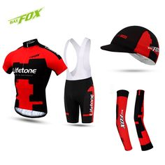42.68$  Buy now - http://alipbu.shopchina.info/go.php?t=32805110452 - BATFOX MTB Cycling Jersey Polyester Short Male Maillot Cycling Clothing 2017 Men Pro Team Bicycle Clothing Kits Quick Dry  #magazine
