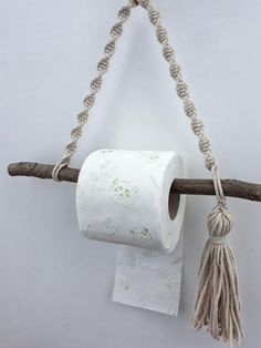 bathroom small Macrame roll holder Paper towel holder Rope toilet paper / double TP hanger Bohemian home decor Boho bathroom accessories Rustic wall decor Rustic Wall Decor, Rustic Walls, Rustic Paper Towel Holders, Diy Toilet Paper Holder, Toilet Roll Holder Rope, Primitive Bathrooms, Primitive Homes, Primitive Kitchen, Primitive Country