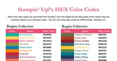 HEX Color Codes Stampin Up 2013-2014.pdf
