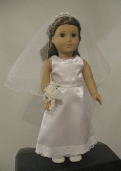 AMERICN GIRL DOLL BRIDE DRESS WITH TRAIN by donnacotterman on Etsy
