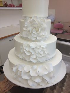 Gently floating petals  Cake by Beaverton Bakery