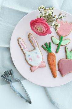 Osterkekse mit Meri Meri Easter, Sugar, Cookies, Desserts, Pink, Inspiration, Celebrations, Food, Holidays
