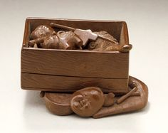 Toy Box Netsuke ~ Japan, 1932 ~ Wood ~ Sōko (Morita Kisaburō) (Japan, 1879-1943)