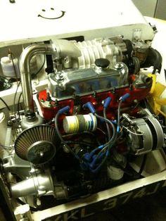 Supercharged A Series , fitted to a Siva kit car Mini Cooper Classic, Classic Mini, Plane Engine, Austin Healey Sprite, Mg Midget, Mini Stuff, Kit Cars, Small Cars, Super Cars