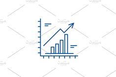Line Chart, Bar Chart, Report Design, Line Icon, Concept, Bar Graphs