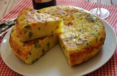 Tortilla de verduras. Receta.   Cuchillito y Tenedor