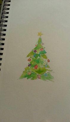 my watercolor christmas tree