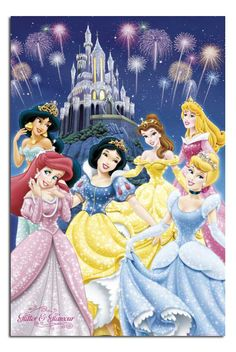 Disney Princess Poster 24 x This versatile and affordable poster delivers sharp, clean images and a high degree of color accuracy. Your poster is printed with an offset lithography press with a coating to protect the inks. Disney Pixar, Walt Disney, Disney Magic, Disney Art, Disney Characters, Fictional Characters, Disney Princess Pictures, Disney Princess Party, Disney Pictures