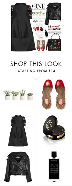 """""""Untitled #2310"""" by amimcqueen ❤ liked on Polyvore featuring Allstate Floral, Gucci, Biyan, Balenciaga, Ex Voto Paris, Agonist and Dolce&Gabbana"""