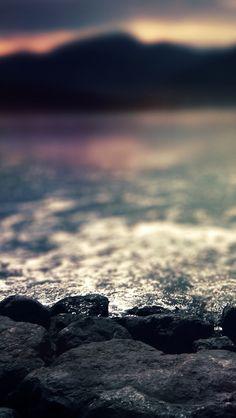 Rocks At Shore Beach #iPhone #5s #Wallpaper