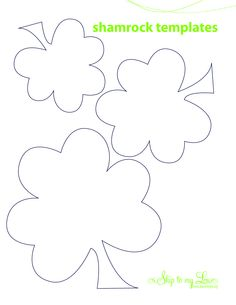 free st. patty's day crafts | shamrock stencil printable