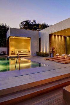 ON A WARM SUMMER NIGHT! | #pool #outdoorentertaining #deck
