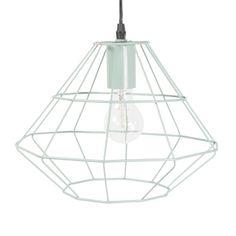 SOHO metal pendant lamp in green D 31cm