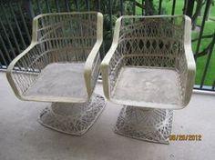 Cool Mid Century Fiberglass Wicker Patio Chairs (Pompano Beach) $125 For  Pair