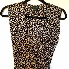 """J Crew - Floral, Maxi, Wrap-Dress Host Pick 9/5/2015 by @JCoff . Please visit her closet.  Black background to a light tan floral pattern beautiful maxi dress. Sleeveless, unlined (not sheer) side pockets and 52"""" from shoulder to hem. Excellent condition. J. Crew Dresses Maxi"""