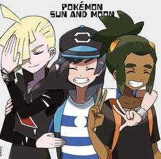 Look at them so happy  Even Gladion is being a happy edgelord