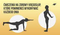 Zdrowy kręgosłup - ćwiczenia każdego dnia Health And Fitness Articles, Health Fitness, Sciatica, Pilates, Medicine, About Me Blog, Yoga, Gym, Dance