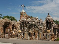 The Grotto of the Redemption took 50 years to build... certainly worth a stop on your road trip! In West Bend, Iowa... it's the largest collection of minerals & petrified materials in the world! Camping road trip anyone?