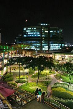 Ayala Center at Night Cebu City PHILIPPINES