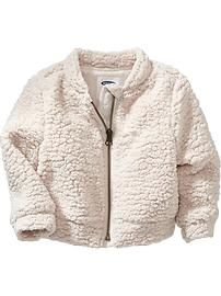 Faux-Shearling Bomber Jacket for Baby