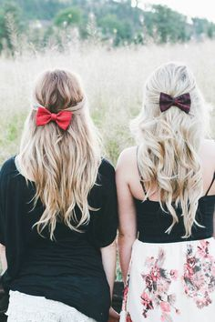 The Once Was // Bows Shiloh, Cute Hairstyles, Bows, Hair Styles, Hairdos, Arches, Hair Plait Styles, Bowties, Hair Looks
