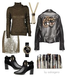 """Lion"" by aakiegera ❤ liked on Polyvore featuring Topshop, Balmain, Gucci, Serpui, Ashley Pittman and Ted Baker"