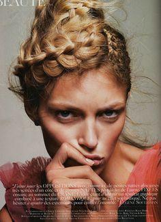 Braid by Eugene Souleiman - Anja Rubik for Vogue Paris March 2010 - 1