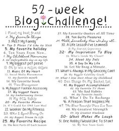 Kick 2014 off with a 52-Week Blog Challenge!