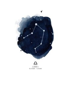 Zodiac Constellation - Libra Art Print